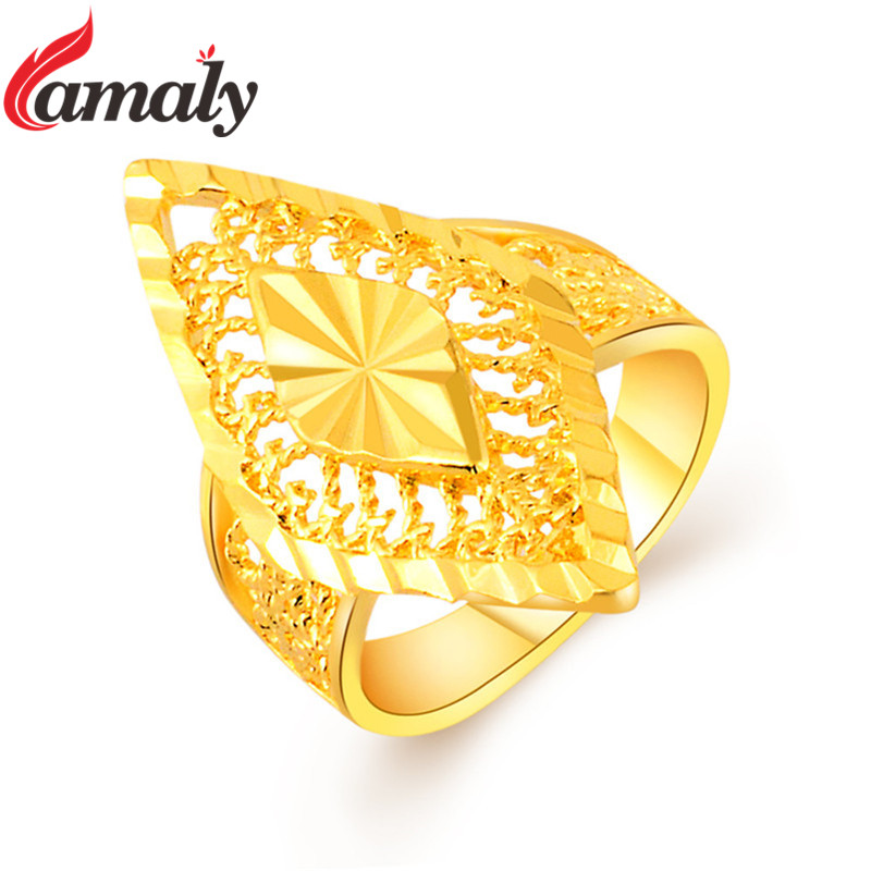 2017 New Arrival Yellow Gold Cocktail Ring Luxury Brand