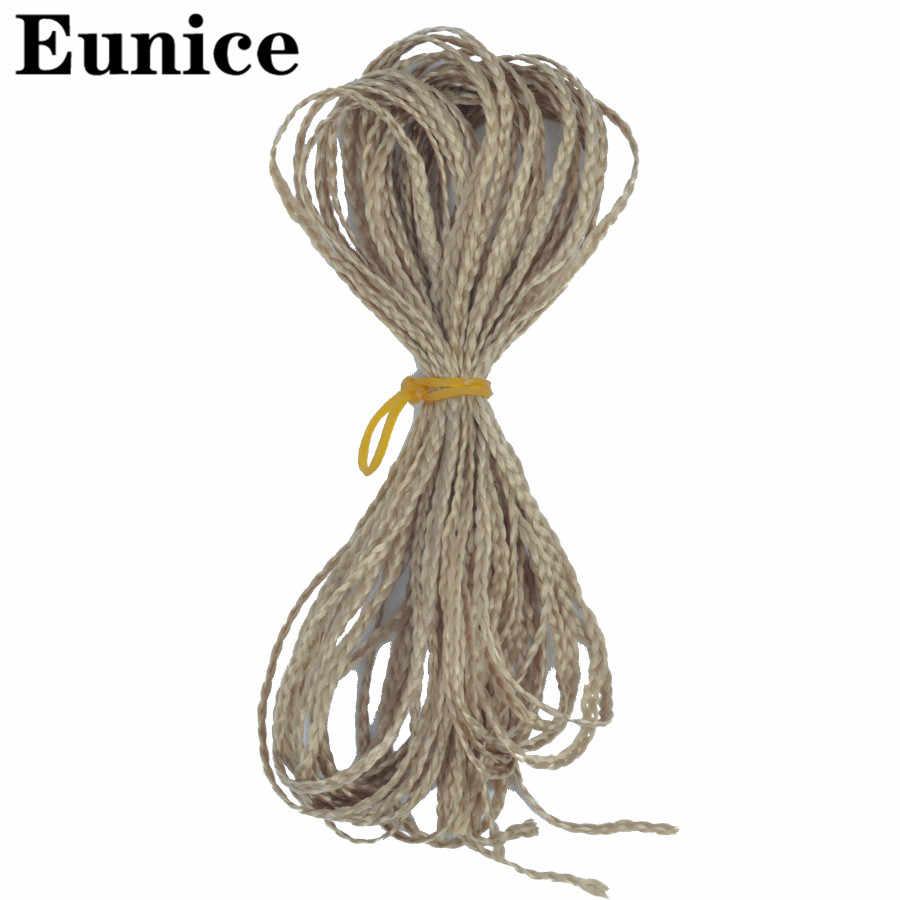 תיבת צמות סינטטי דק תיבת סרוגה צמות זיזי יוניס שיער צבעוני זיזי קולעת תוספות שיער שחור 613 חום שיער