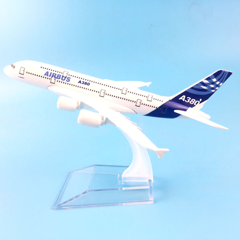 FREE SHIPPING 16CM AIRBUS A380 AIRLINES METAL ALLOY MODEL PLANE AIRCRAFT MODEL TOY AIRPLANE BIRTHDAY GIFT free shipping 16cm 757 dhl metal alloy model plane aircraft model toy airplane birthday gift