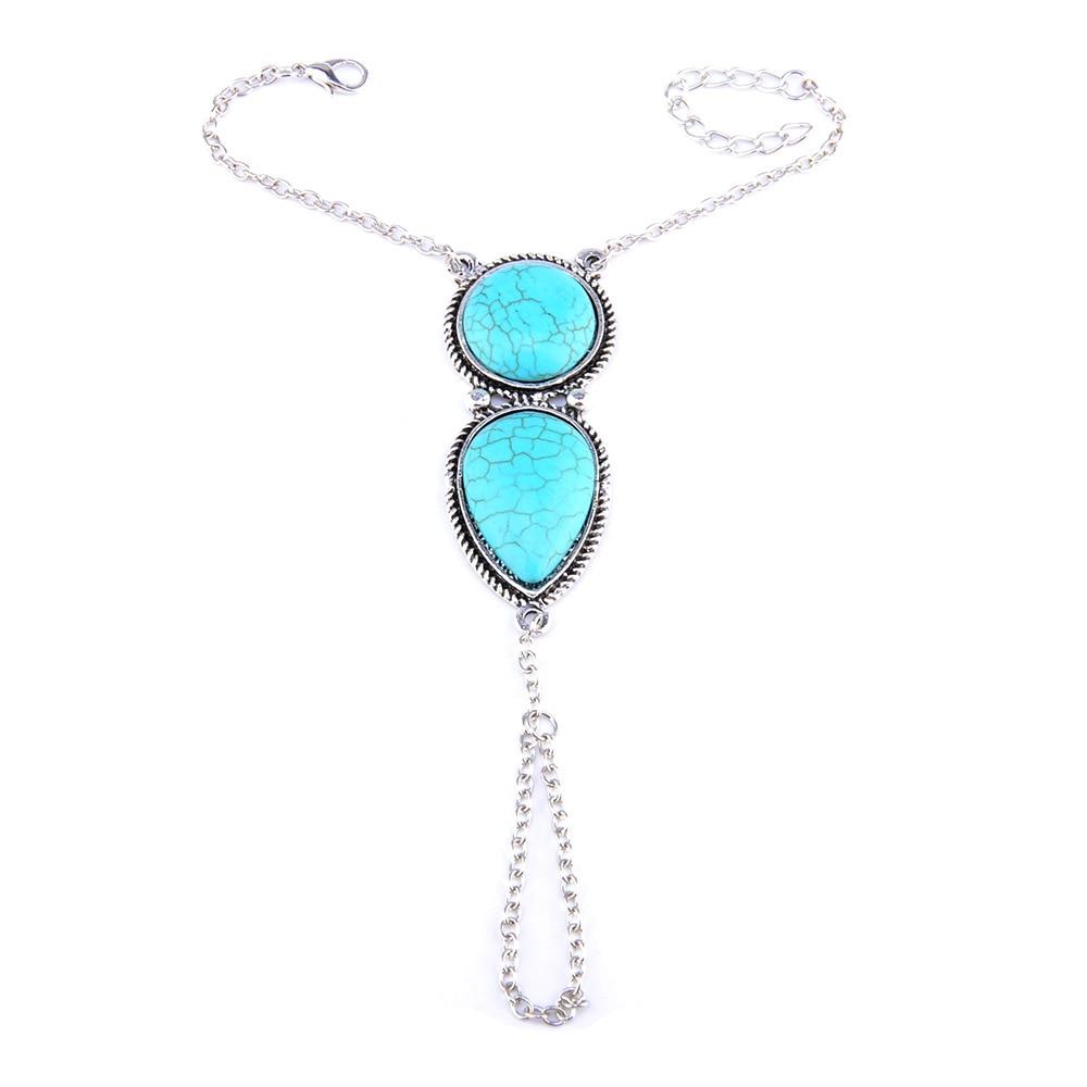 Blue Hot Bracelets 2018 New Fashion Best Punk Multi Bracelet Bangle Chain Link Interweave Finger Rings Drop Shipping