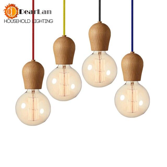 Good looking vintage wooden pendant lamps1m for cable with 11 good looking vintage wooden pendant lamps1m for cable with 11 colors for selection aloadofball Gallery
