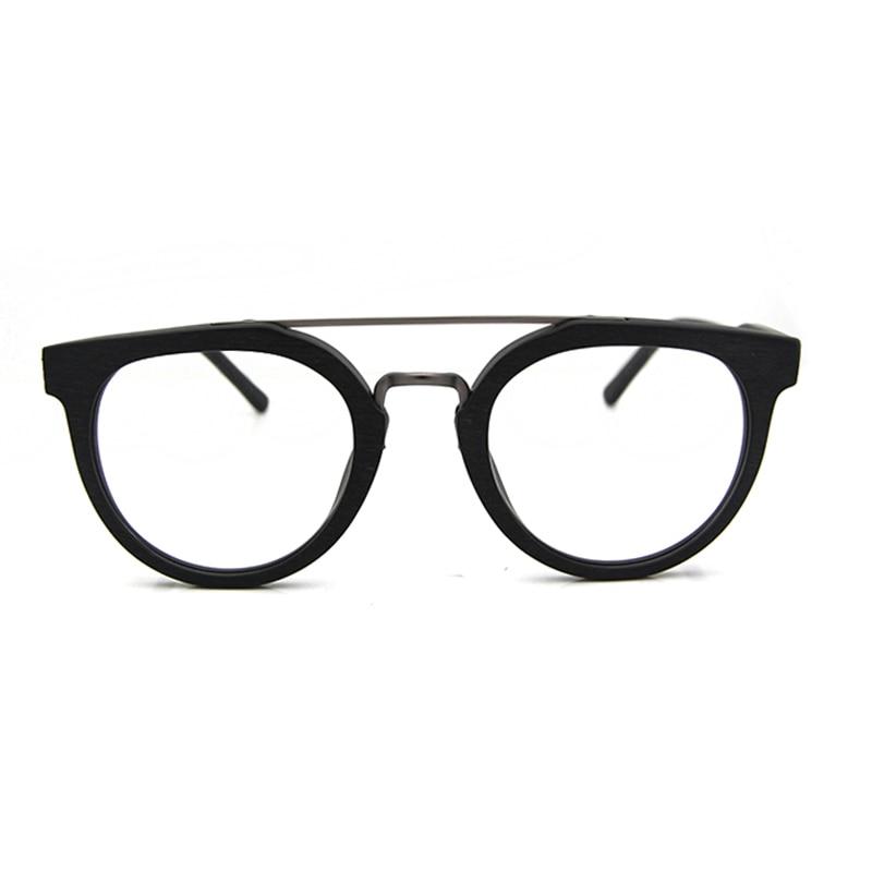 Syze syze ESNBIE Dizajn Kornizë Gratë Fake Lunettes Wood de Vue - Aksesorë veshjesh - Foto 3