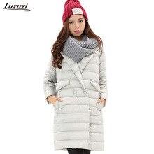 1 шт. тонкая пуховая куртка женские зимние пальто женские пуховые куртки длинные пальто парка Chaquetas Mujer jaqueta feminina Inverno Z733