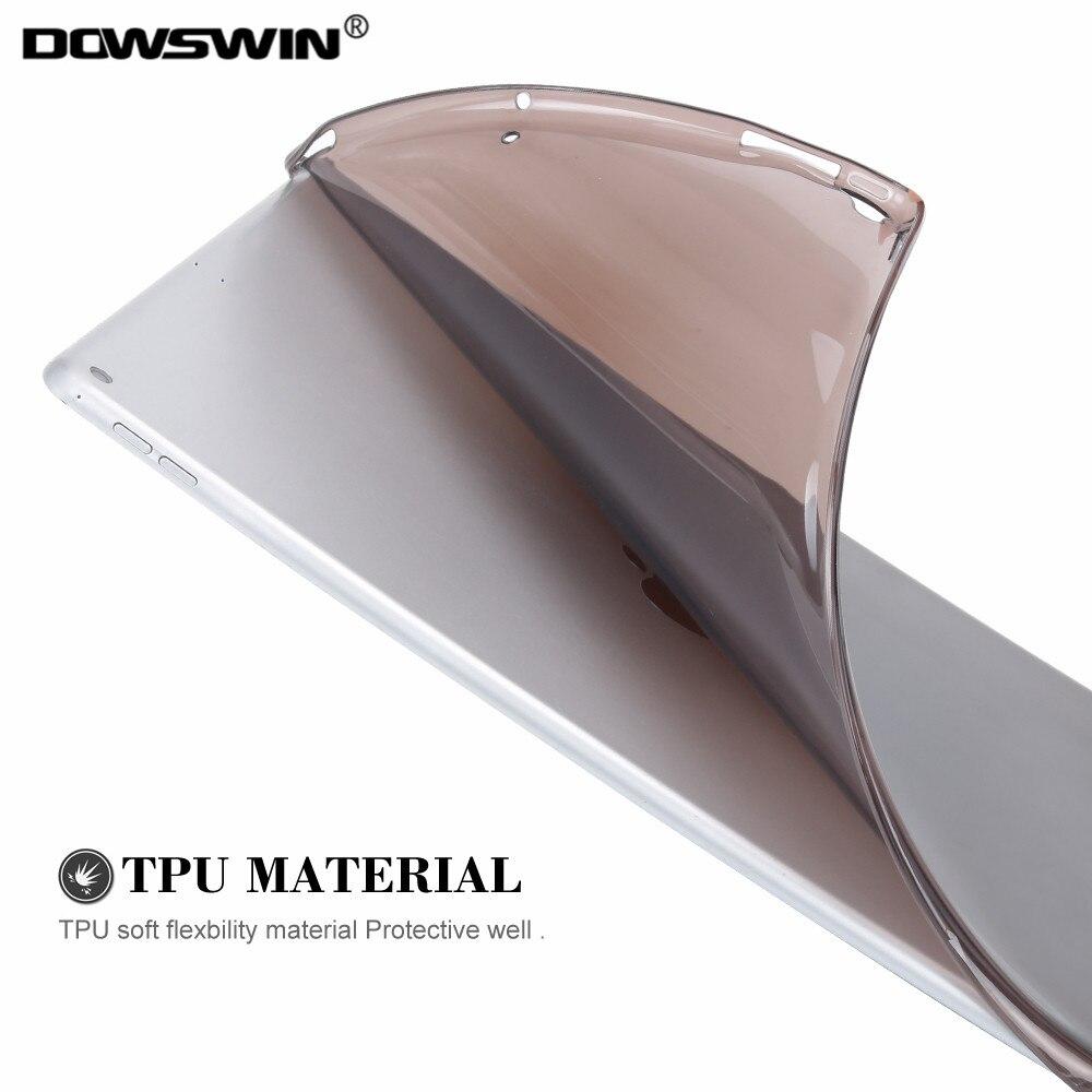 DOWSWIN for ipad pro 12.9 2017 case, Soft TPU transparent cover for 2017 iPad Pro 12.9 case 2017, Protection back cover 12.9 soft case back cover for leeco le pro 3 x720 transparent