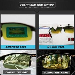 Image 5 - Unisex polarized sunglasses Men Driving Day Night Glasses Male Anti glare UV400 Eyewear Women Driver Glasses gafas oculos de sol