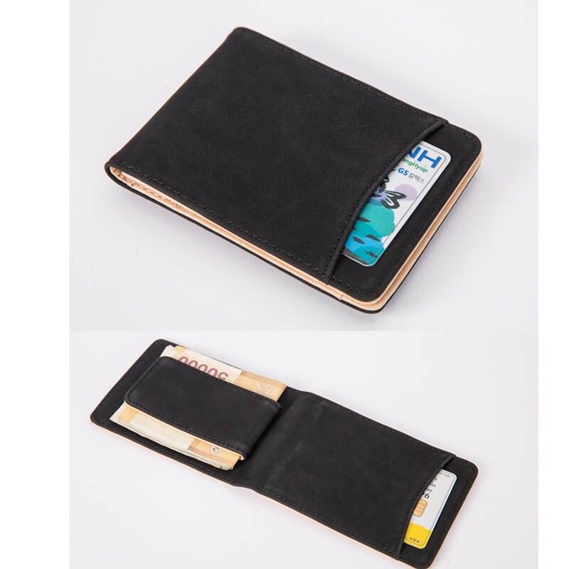 Fashion Faux Leather Magnet Slim Business Card Holder Wallet ID Credit Card Case Front Pocket Business CardHolder