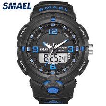 Solar Watch SMAEL Digital Watches Men Led Solar Military Male Clock Men Wristwatches Quartz Sports Watch Relogio Masculino цена 2017