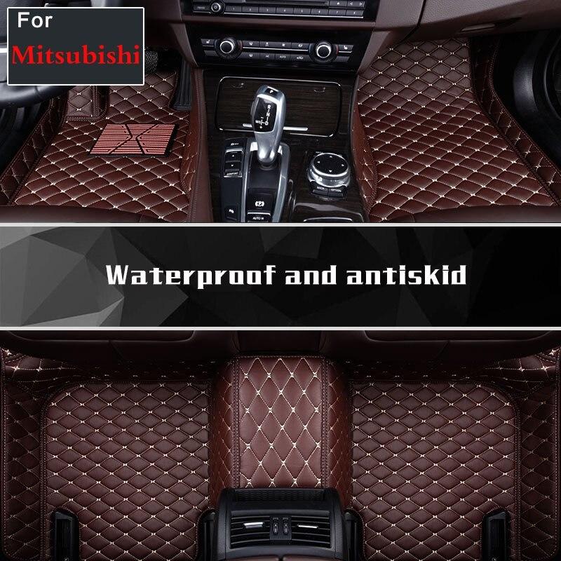 Tapis de sol en cuir imperméable à l'eau pour Mitsubishi Phev