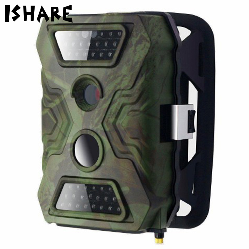 все цены на JS086M 2G MMS Field Hunting Camera GSM SMS 720p Infrared Trigger Scouting Trail Wildlife Photo Trap Outdoor Essential LCD Camera