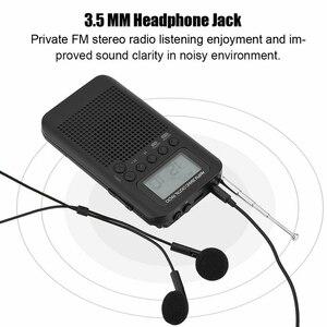 Image 5 - Mini taşınabilir cep AM/FM 2 yönlü LCD teleskopik anten akülü radyo alıcısı