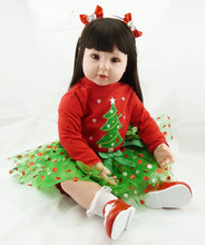 22 55cm Lifelike Reborn Babies Vinyl reborn Baby font b Doll b font Toys Play font