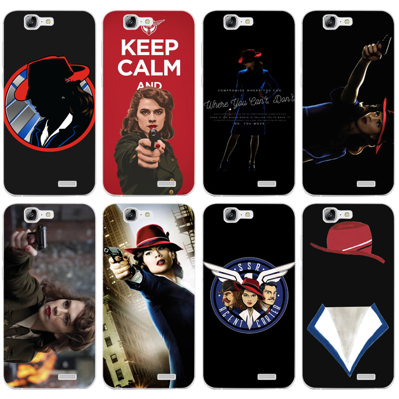 H012 Agent Carter Transparent Hard Thin Skin Case Cover For Huawei P 6 7 8 9 10 Lite Plus Honor 6 7 8 4C 4X G7