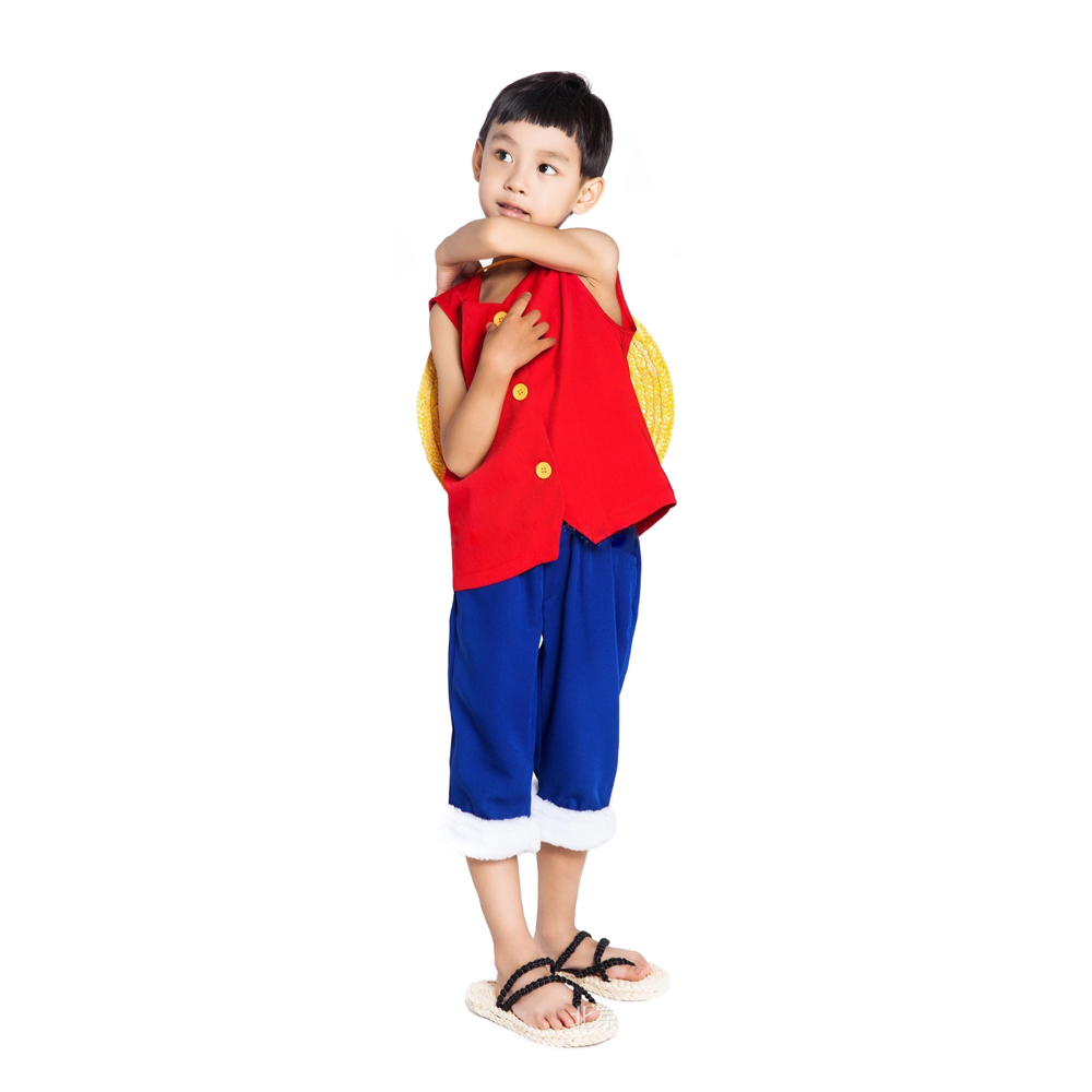 Luffy's outfit during the amazon lily arc and the beginning of the impel down arc. Kid S One Piece Cosplay Costume Monkey D Luffy Clothes 1st Cosplay For Baby Boy Girl T Shirt Clothes Pants Hat Luffy Clothes One Piece Cosplaycosplay Costume Aliexpress
