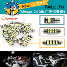 Cawanerl Car 2835 SMD Error Free Interior LED Bulb Canbus LED Package Kit White For VW Volkswagen Golf Jetta GTI MK4 1999-2005