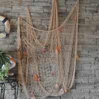 Mittelmeer Wind Nautischen Fischernetz Meer Wand Strand Party Muscheln Home Garten Decor