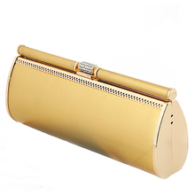 Luxus Frauen Abendtasche Mode Prominente Bankett Dinner-Party Kupplungen Gold Schwarz Kette Schulter Handtaschen Tag Kupplung XA315H