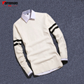 New Autumn and Winter High-quality Men's Solid Color Long-sleeved Round neck Pullover Sweater Slim Warm Bottoming