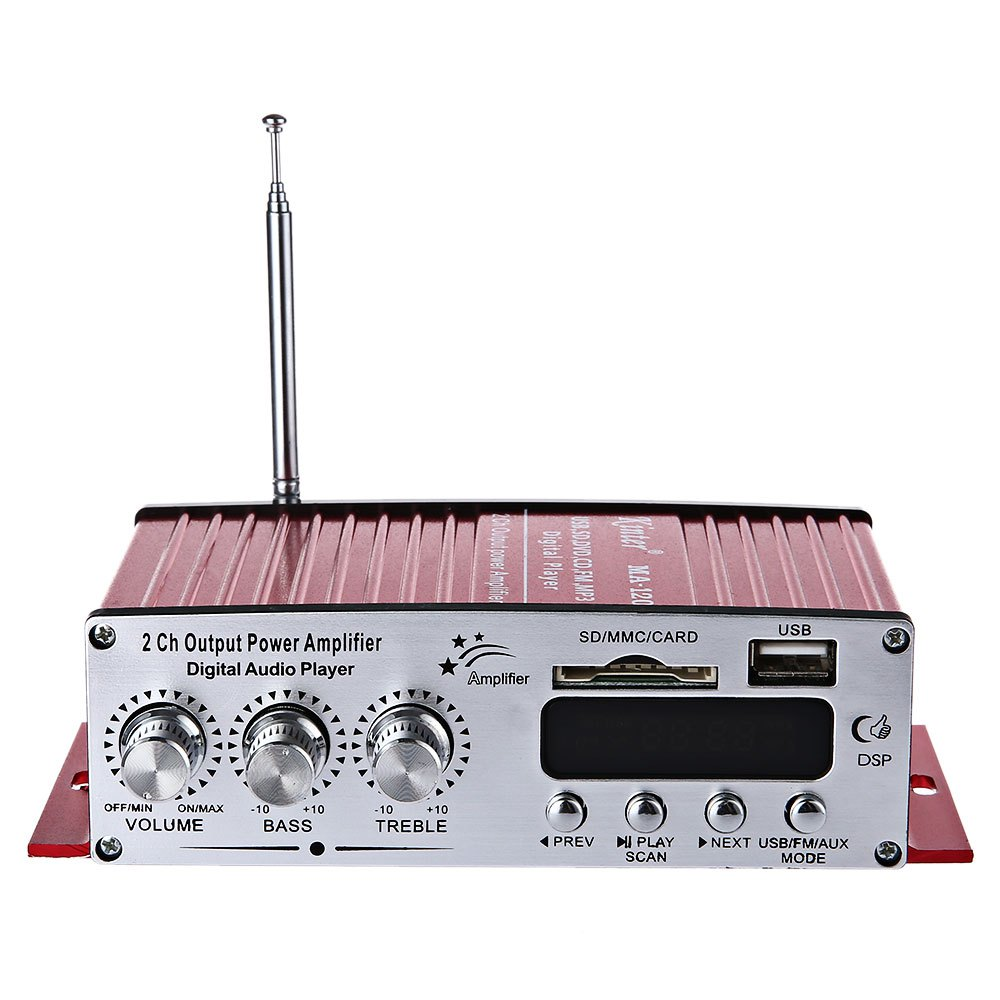 Kinter Ma 120 12v Hifi Audio Amplifier Support Fm Sd Player Circuit Board Pcb With Radio View Mp3 Usb Input Stereo Design Supports Card Music Playing
