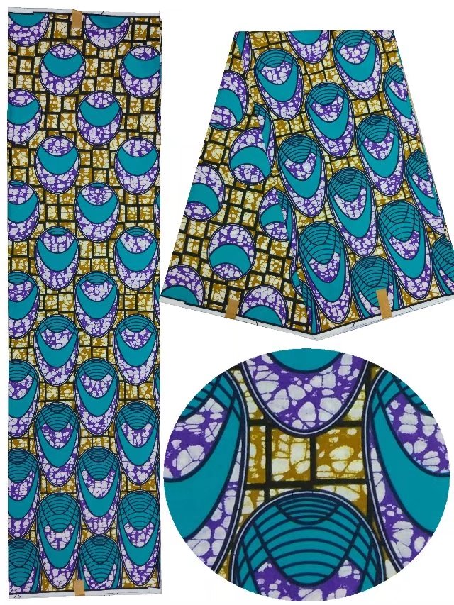 100% Coton africain cire tissu ankara tissu de cire 2018 nouveau design africain cire tissu pour le nigeria vêtements! LU1-15