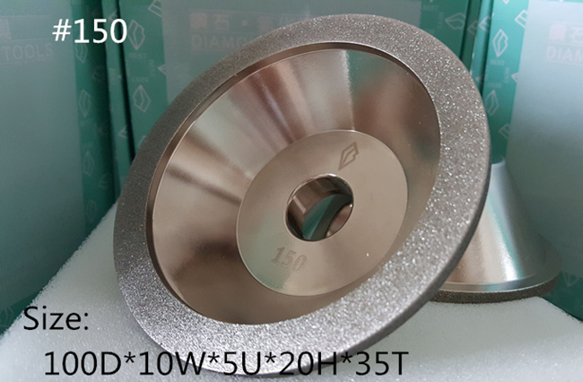 150 Cup Shaped Diamond grinding wheel 100D 10W 5U 20H 35T 1pcs
