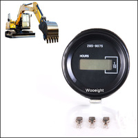 Round mechanical Hour Meter Hourtimer Counter Timer For CAT Car Generator Diesel Petrol Engine Excavator Tractor Motor DC12 36V