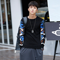 2016 New Autumn Round Neck Pullover Knitted Sweater Men Slim Fit Casual Camouflage Design Warm Sweater Men sueter masculino