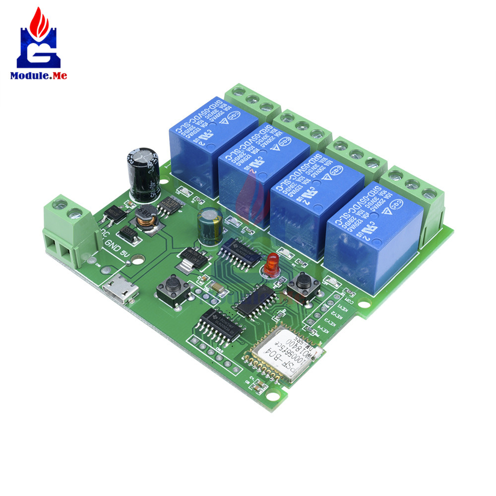 5V ESP8266 WiFi 4-Channel Relay Module IoT Wireless Transmitter For Smart Home