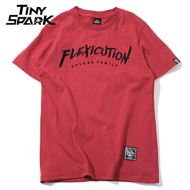 2018 Men T Shirt Hip Hop Flexicution Logic Rapper Hiphop Shirts Embroidery Harajuku Tshirt