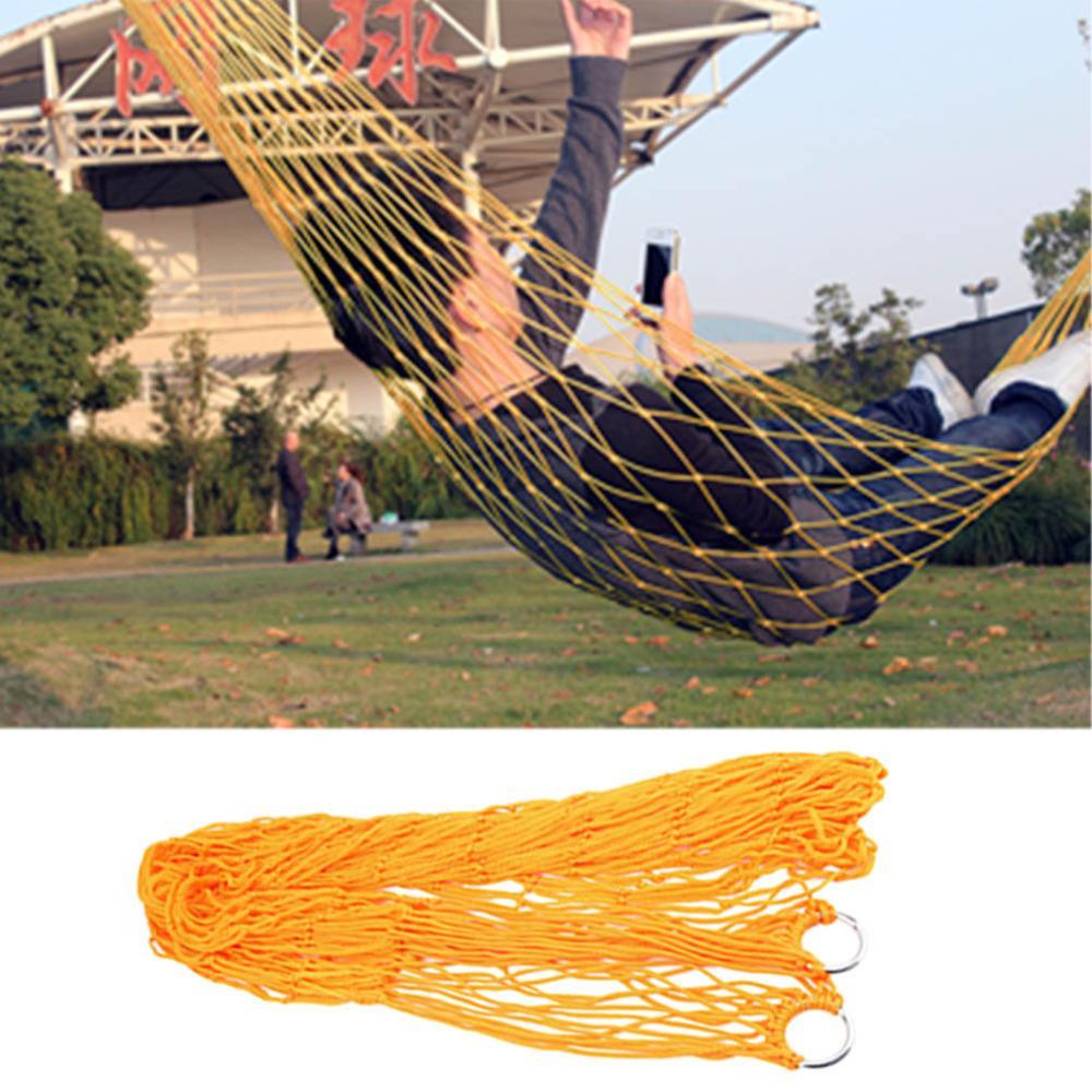 Hewolf Outdoor Sleeping Mesh Hammock Portable Garden Camping Travel Nylon Hang Net Bed Free Shpping