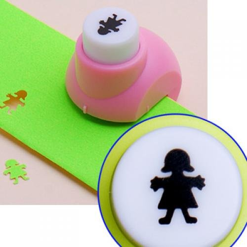 Kid Child Mini Printing Paper Hand Shaper Scrapbook Tags Cards Craft DIY Punch Cutter Tool(Girl)