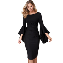 فستان دانتيل أنيق متعدد المناسبات بأكمام واسعة موديل راقي