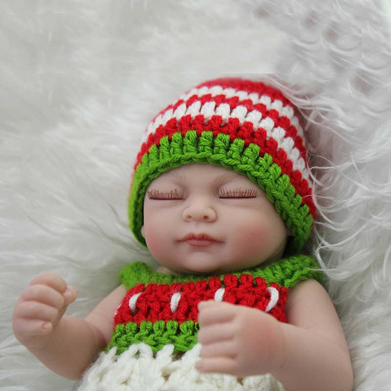 11 ''אמיתיים Reborn תינוק Alive רך ויניל בובת שינה בעבודת יד סיליקון בנות יילוד בובות לילדים יום הולדת מתנות