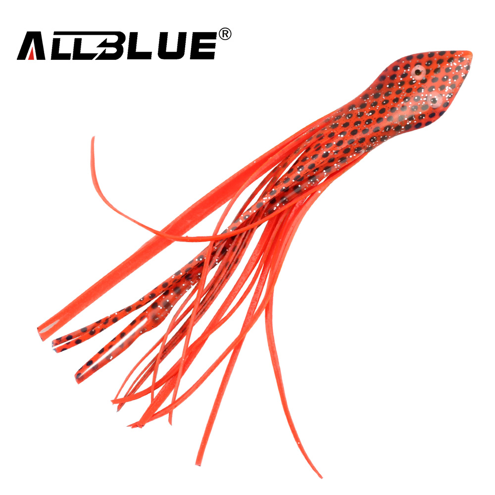 ALLBLUE Fishing Lure Soft Squid Skirts Snake Octopus Jigging Bait 15.8cm 4pcs/lot Multi Colors Mixed For Fishing Isca Artificial 50pcs 12cm mixed color soft silicone fishing lures plastic octopus squid skirt fishing lure saltwater octopus bait for fishing