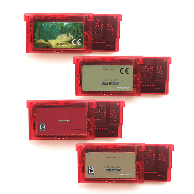 The Minish Cap Link Past Four Swords Transport Red Shell for 32 Bit Video Game Cartridge Console Card Handheld