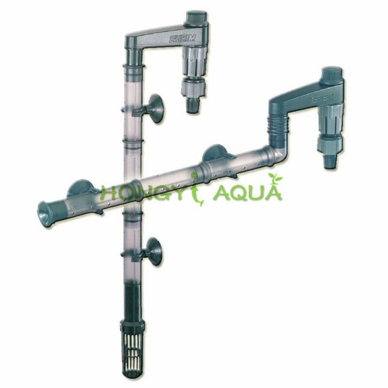 EHEIM Multi-função de entrada e saída da tubulação de água filtro de Aquário barril filtro de entrada e saída de tubos dentro e fora de água conjunto