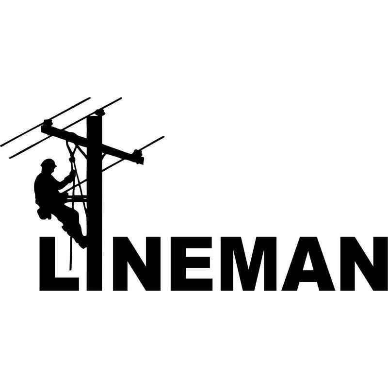 15.5cm*7.7cm LINEMAN Electrician Journeyman Power Pole