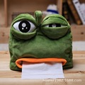 Sad frog towel sets Funny creative pumping tray frog plush toys Tissue box