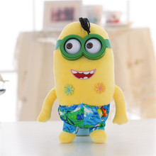 9 inch Small Yellow People Plush Toys Wear cotton clothes Dolls Super Lovely Cartoon Stuffed Toys Gift Pendant Ornaments for Kid