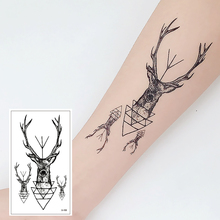 X-155 Black Waterproof Temporary Art Tattoo Stickers fake  animal  Hand Back Foot for Girl Women Men