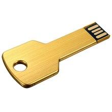 10 pcs USB 2.0 16GB Metal Memoire Flash Drive Stick WIN 7/10 PC Gold