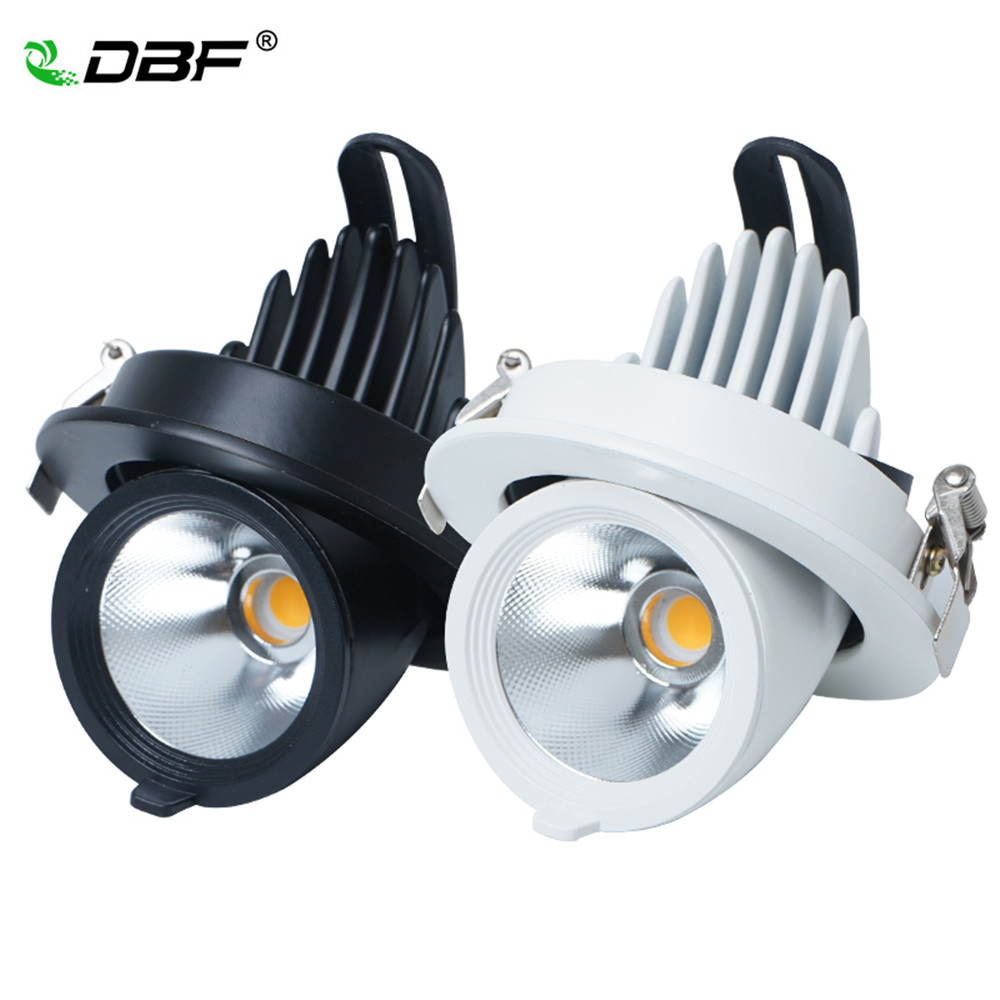 LED Downlight dimmable 7W 10W 15W 20W adjustable 360 Degree Recessed LED Ceiling Spot Light  AC110V 220V Trunk downlight LED LED Downlight dimmable 7W 10W 15W 20W adjustable 360 Degree Recessed LED Ceiling Spot Light  AC110V 220V Trunk downlight LED