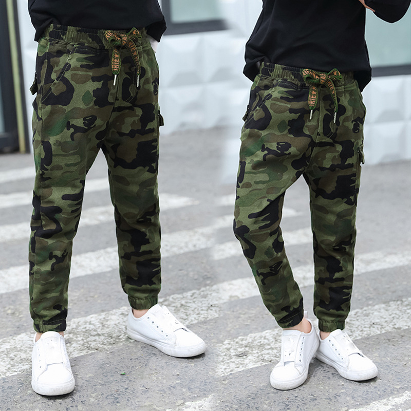 fashion camouflage boy pants 2018 spring summer kids sport pants for boys trousers children teenage boys clothing 10 12 13 years spring outfits for kids