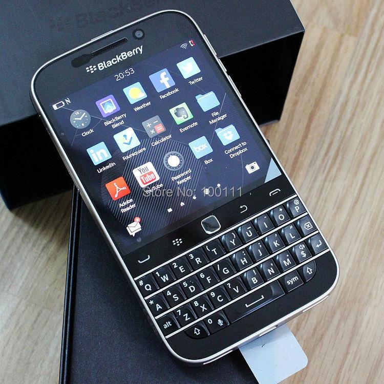 Desbloqueado original blackberry clássico q20 telefone duplo núcleo 2 gb ram 16 gb rom 8mp câmera, frete grátis