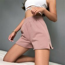 Summer Women Shorts 2019 New Casual Pink Elastic High Waist Loose Hot Size S-L