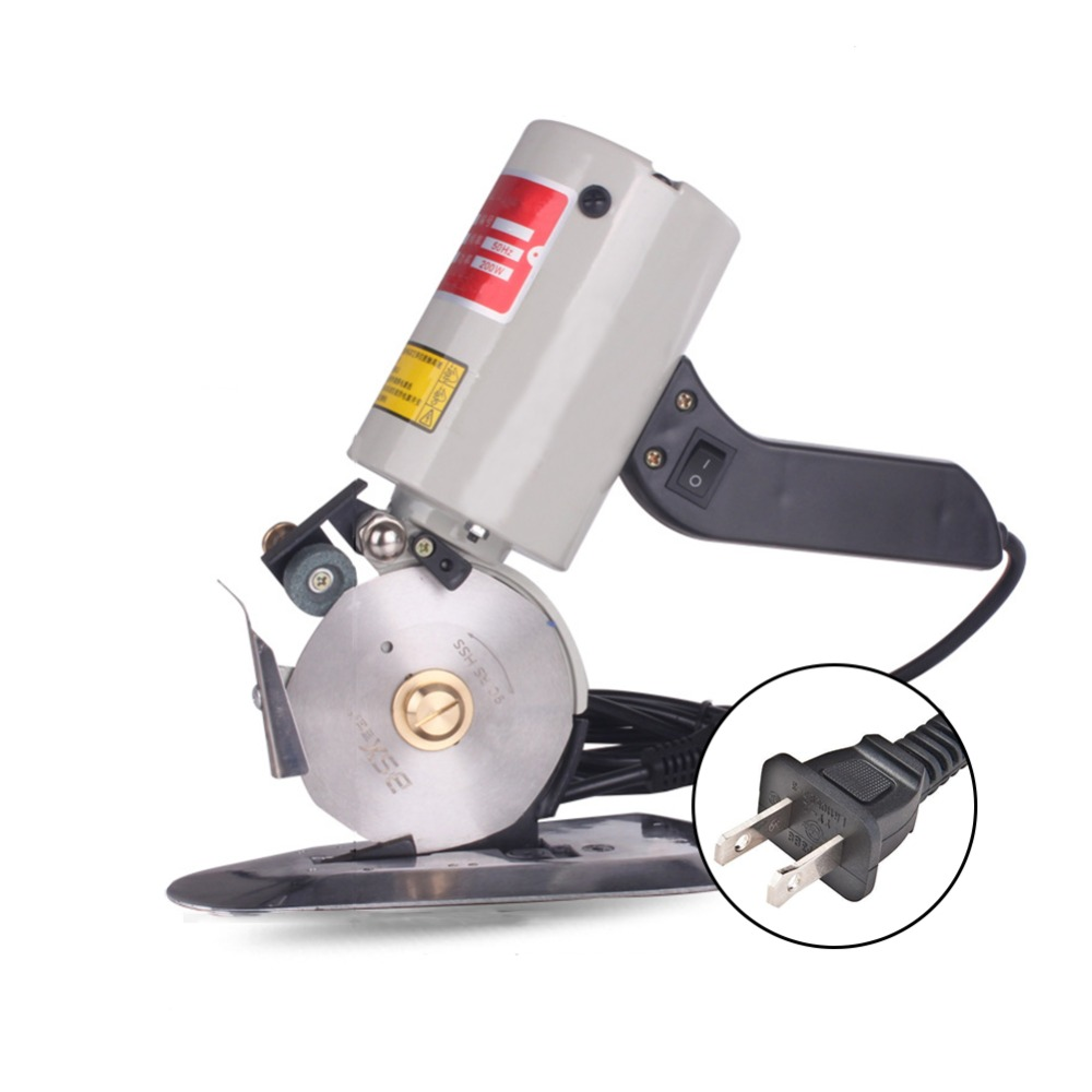 90mm Electric Round Knife Fabric Cloth Saw Cutter 110V/ 220V 200W Cutting Machine For Cotton Silk Leather Cut Tools EU/US Plug