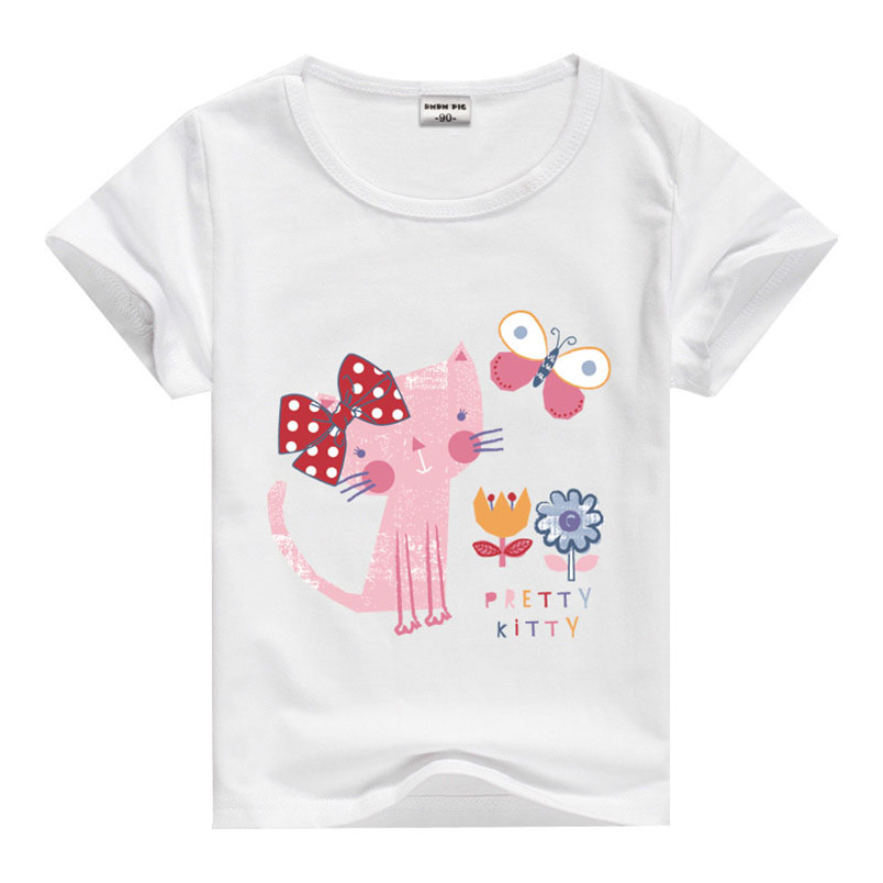 Kids short sleeve girls t shirts cartoon wholesale for Kids t shirts in bulk
