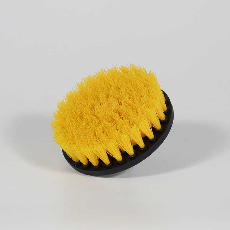 2 pc 5 inch Yellow drill brush Power Scrub Drill Brush Clean Brush used on Electric Drill for Carpet Sofa Leather Plastic Wooden
