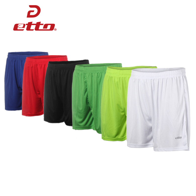 Etto Quality Adult Soccer Shorts Men Women Breathable Sweat-absorption Quick Dry Football Shorts Team Training Trousers HUC001