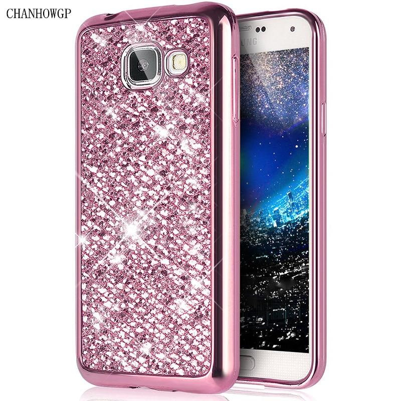 Luxury Glitter Silicon Case For Samsung Galaxy A5 J3 J5 J7 2016 S4 S5 S6 S7 Edge Grand Prime