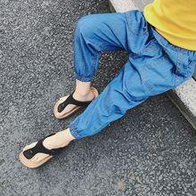 2018 letnie dziewczyny dżinsy cienkie dżinsy dla dzieci dziecko dzieci chłopcy dziewczęta casualowe spodnie jeansowe moda dziewczyny dzieci spodnie dla chłopców dziewcząt 2-6Y tanie tanio Stranglethorn Na co dzień light Unisex Elastyczny pas REGULAR Stałe B1606001 Pasuje prawda na wymiar weź swój normalny rozmiar